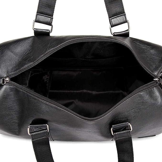 a351a8cf766b Amazon.com : Moonite 🌟 Pu Leather Classic Black Hand Bag Simple ...