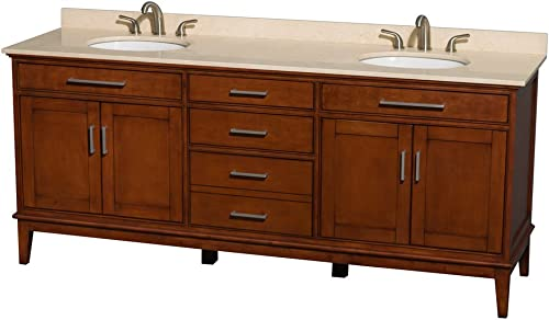 Wyndham Collection Hatton 80 inch Double Bathroom Vanity