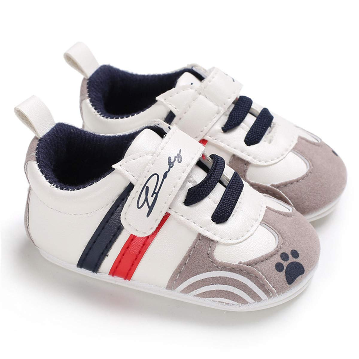 Baby Boys Girls Sneakers Non Slip Rubber Sole Infant Toddler First Walker Outdoor Tennis Crib Shoes 4001