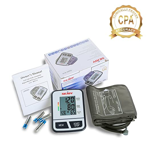 Amazon.com: Automatic Upper Arm Blood Pressure Monitor, Large Digital Screen, Easy to Use, Standard and Large Universal Arm Cuff, Batteries Included, ...