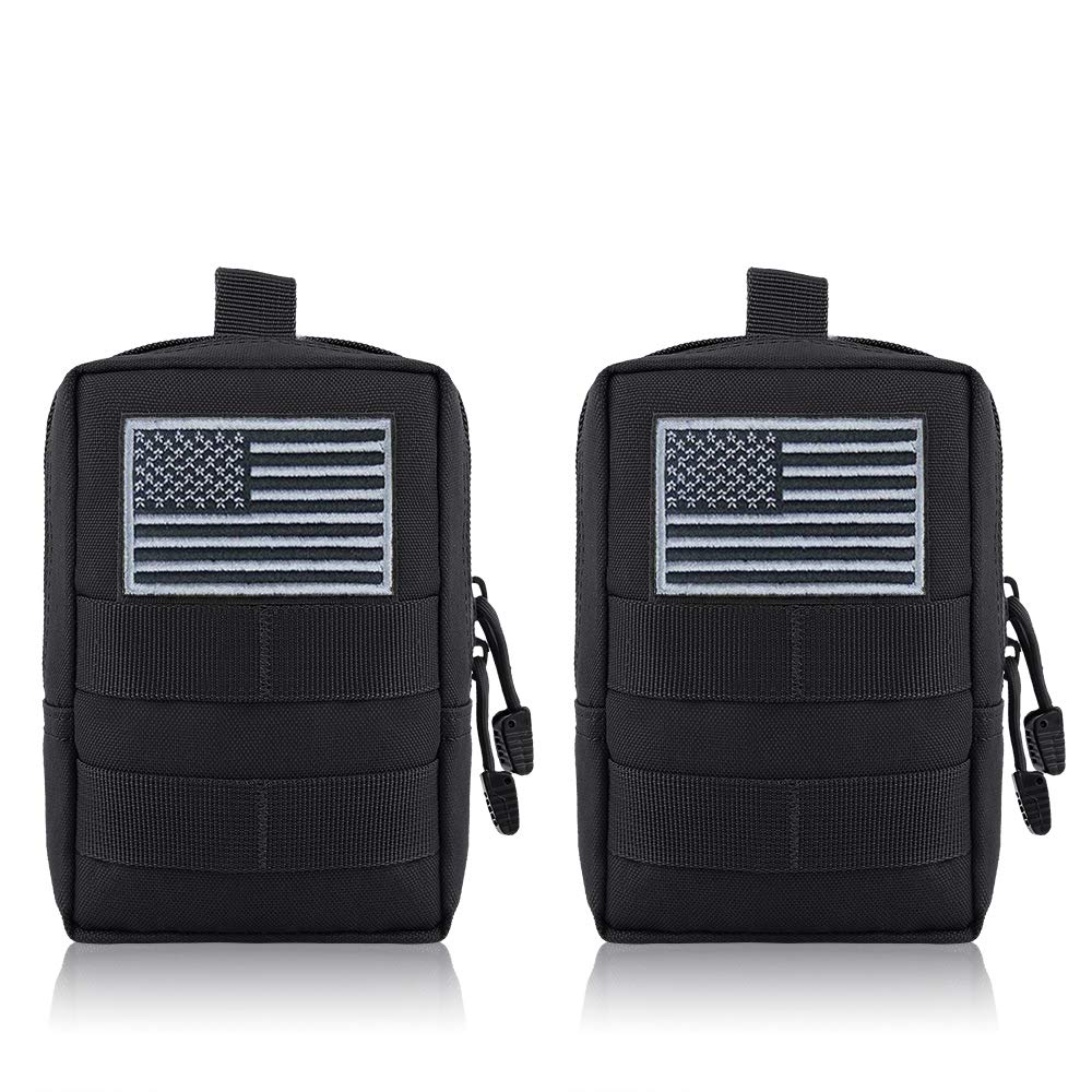 Details about FUNANASUN MOLLE Pouches - 2 Pack Tactical Compact Pack  Water-resistant Utility