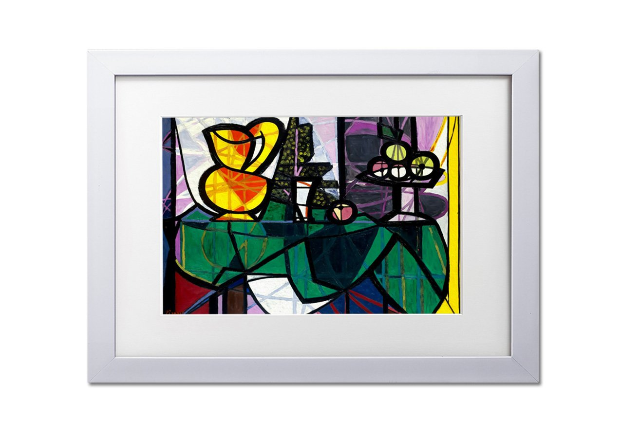 dff131e038e3 Living Colors Classic Artists Boccale E Fruttiera By Picasso A4 Framed Art  Print - Black Frame - Wall Art Picture - 8 x 12 Inches (20x30CM)   Amazon.co.uk  ...