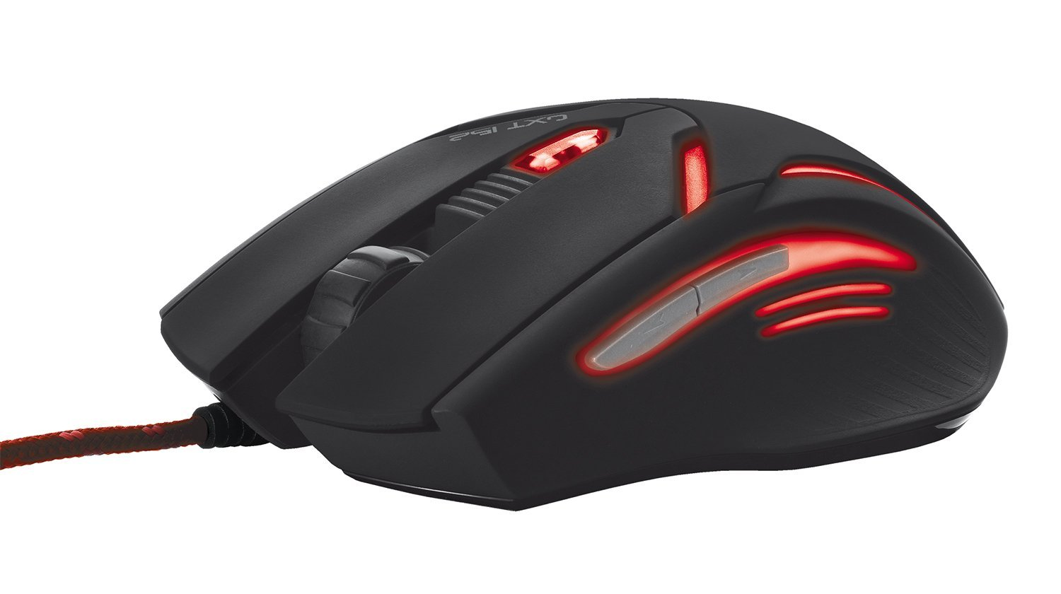 Trust GXT 152 6-Button Gaming Mouse with Adjustable LED and 4 DPI Levels, Black