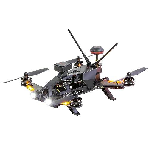 Walkera Runner 250Pro 15004600Quadricoptère de course –Drone avec pilotage en immersion (FPV) avec caméra HD, GPS, affichage à l'écran (OSD), batterie, chargeur et té