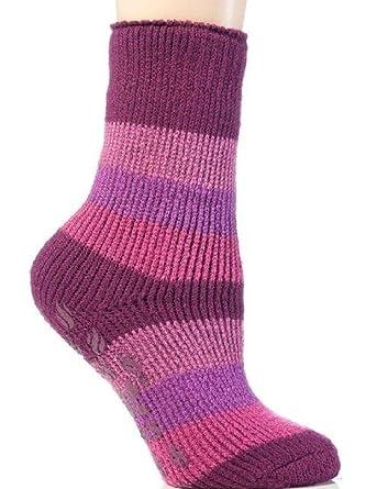 1ee6f1111b2980 1 Pair Kids/Boys / Girls Heat Holders Winter Warm Genuine Original Slipper  Gripper Stripe Socks: Amazon.co.uk: Clothing