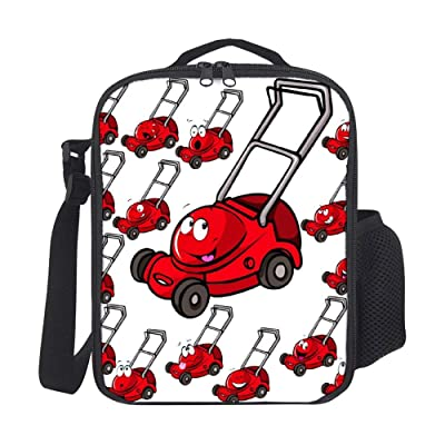 Kids Lunch Backpack Lunch Box Insulated Lawn Mower with Face Lunch Bag Lunch Boxes Cooler Lunch Tote with Shoulder Strap For Boys Girls Teens Women Adults
