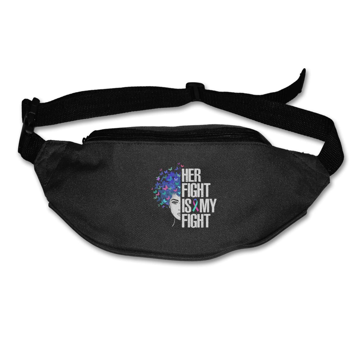 Her Fight Is My Fight Sport Waist Bag Fanny Pack Adjustable For Travel