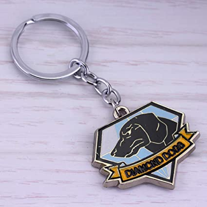 Shancon Diamond Dogs Keychain Cosplay Metal 3D Accessories Christmas Gift