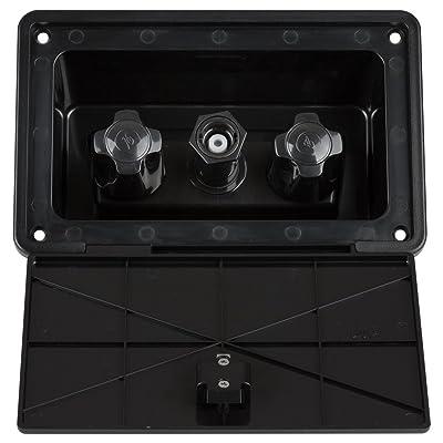 Dura Faucet DF-SA185-BK RV Exterior Spray Box with Hot/Cold Quick Connect Faucet (Black): Automotive