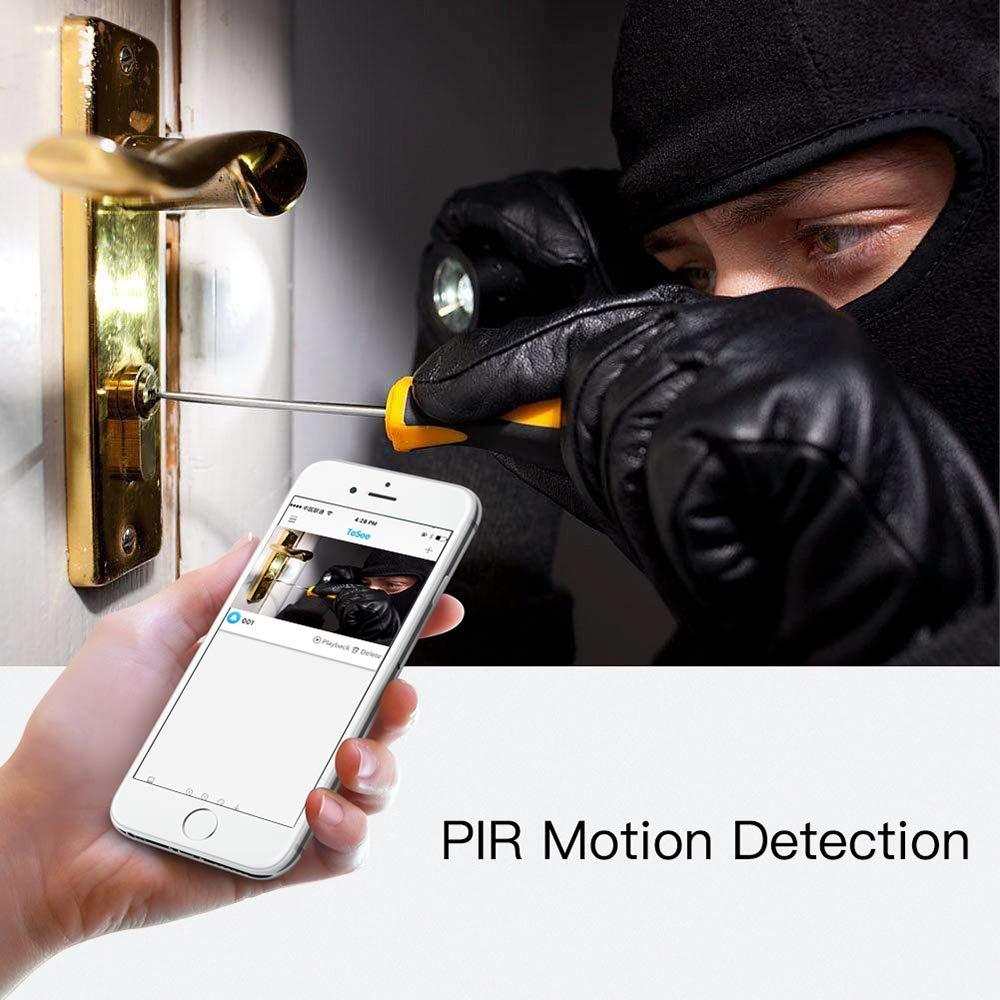 conversaci/ón bidireccional Control de aplicaci/ón para iOS Android 720p HD Video 166/° Gran /ángulo visi/ón Nocturna PIR detecci/ón de Movimiento WiFi NANTING Timbre de Video inal/ámbrico