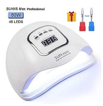 Lámpara LED Profesional de secado de uñas 80W. Lámpara de ...