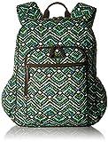 Women's Campus Tech Backpack, Signature Cotton, Rain Forest