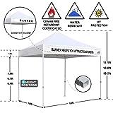 Eurmax 10'x10' Ez Pop Up Canopy Tent Commercial