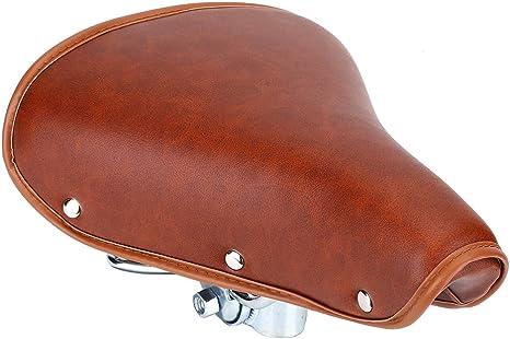 DEWIN Asiento para bicicleta, estilo vintage, de piel sintética, para ...