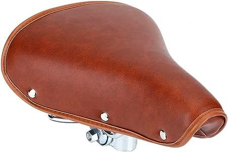 DEWIN Asiento para bicicleta, estilo vintage, de piel sintética ...