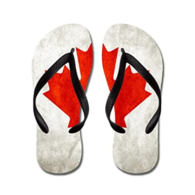 01f853314 Amazon.com  Royal Lion Women s Canadian Canada Flag Grunge Rubber Flip  Flops Sandals  Clothing