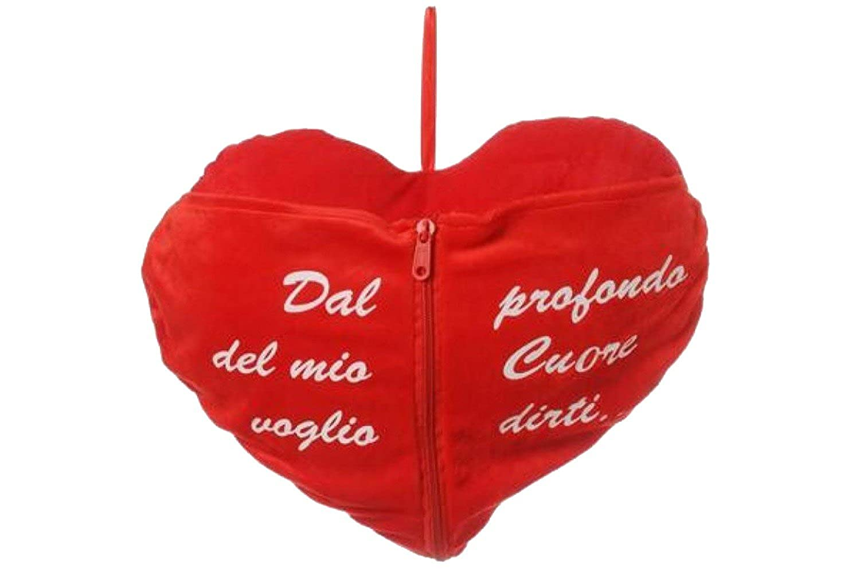 Cojín corazón con zip y oración regalo SAN VALENTÍN rojo ...