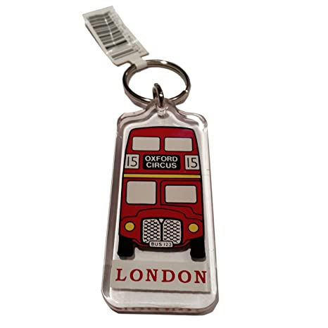 Classic Red Routemaster Bus Key Ring / Keyring / Key Chain Souvenir Quality Red Acrylic London Icon Roten Bus Schlusselring / Autobus rojo llavero / ...