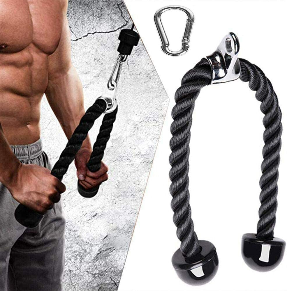 ANMKOT Heavy Duty Tricep Rope Pull Down 27-inch Rope Length, Easy to Grip & Non Slip Cable Attachment,for Weightlifting, Exercise