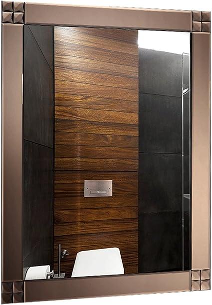 Espejo De Baño De Salón Espejo De Baño Montado En La Pared Espejo De Baño De Dormitorio Instalar Un Espejo De Marco De Madera En La Pared Espejo De Cuerpo Entero: Amazon.es: