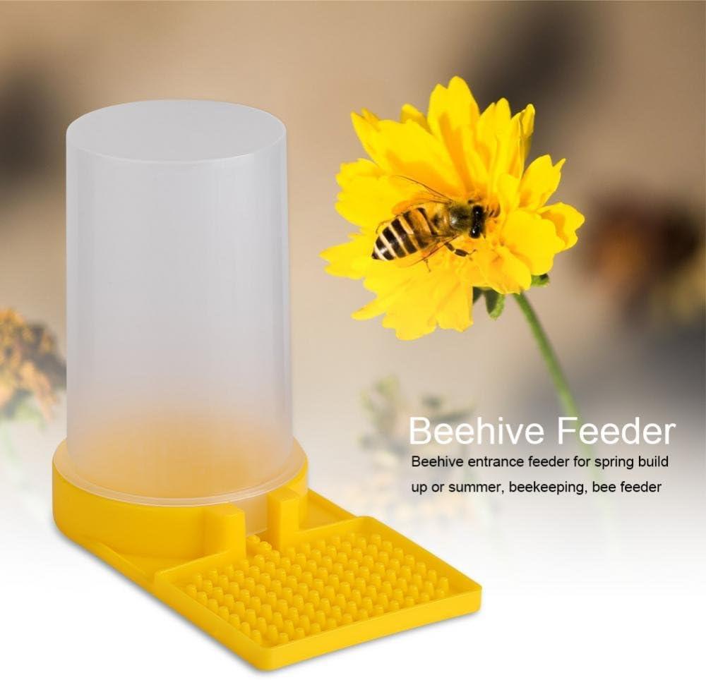Pack of 2 Bee Feeder Beehive Drinking Entrance Bowl Plastic Bee Keeping Equipment GLOGLOW