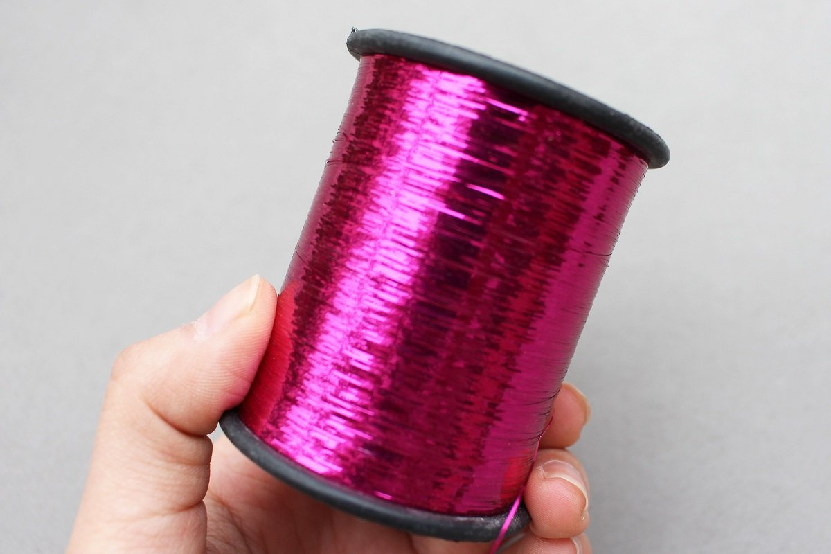 1 Spool 8000m 16 Colors Tinsel Flashabou Flat Mylar Tinsel Sparkle Flash Tube Fly Tying Materials Width 1//92
