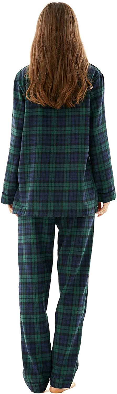 Christmas Matching Family Pyjamas Set 2pcs Long Sleeve Plaid Pajamas Pjs Xmas Nightwear Sleepwear for Womens Mens Girls Boys Kids