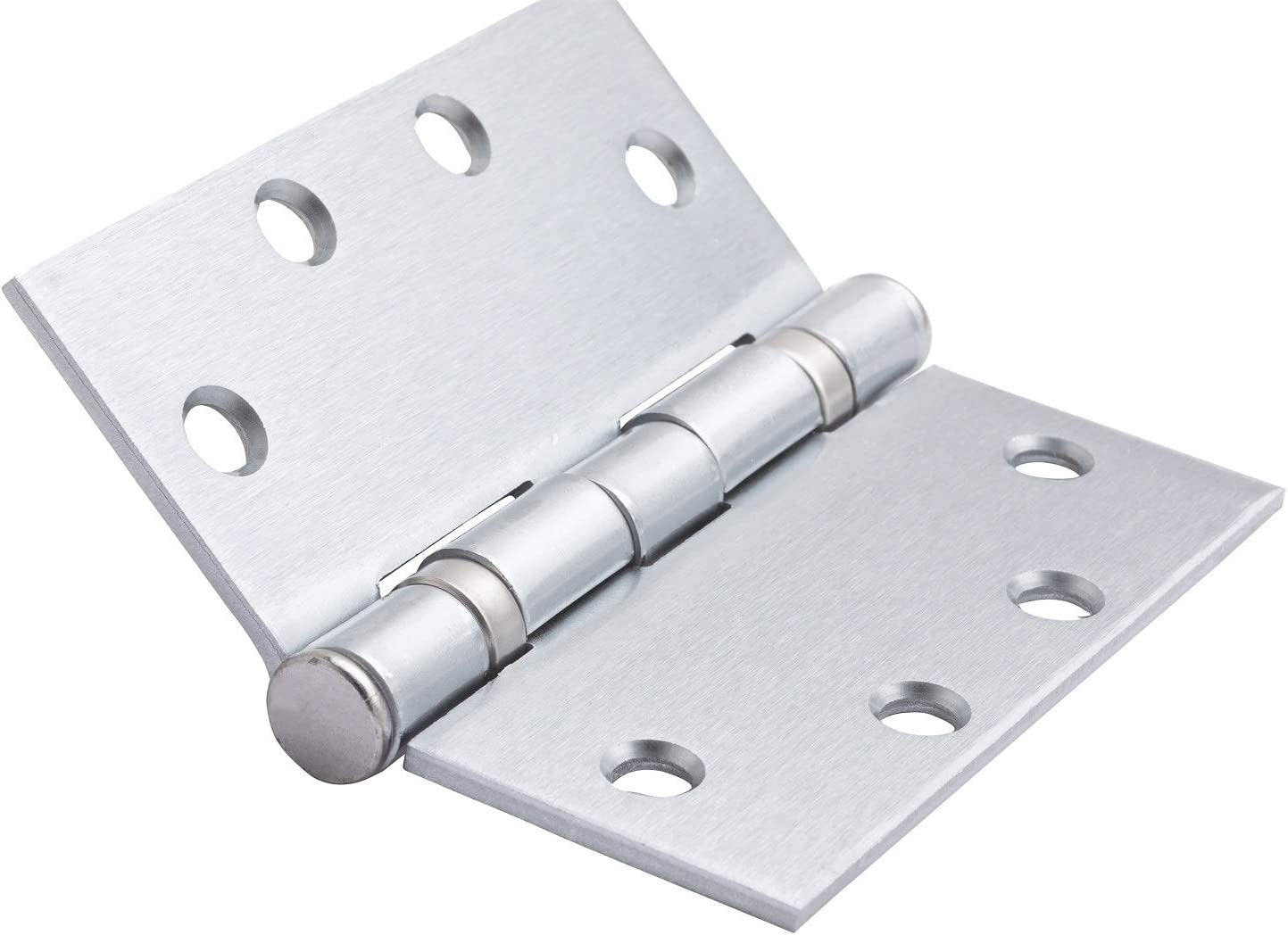 Global Door Controls 4.5 in Satin Stainless Steel Heavy Weight Ball Bearing Hinge x 4.5 in