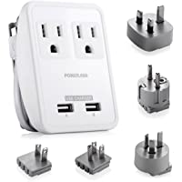 Poweradd Dual Smart USB Ports 2AC Outlets Wall Charger (White)