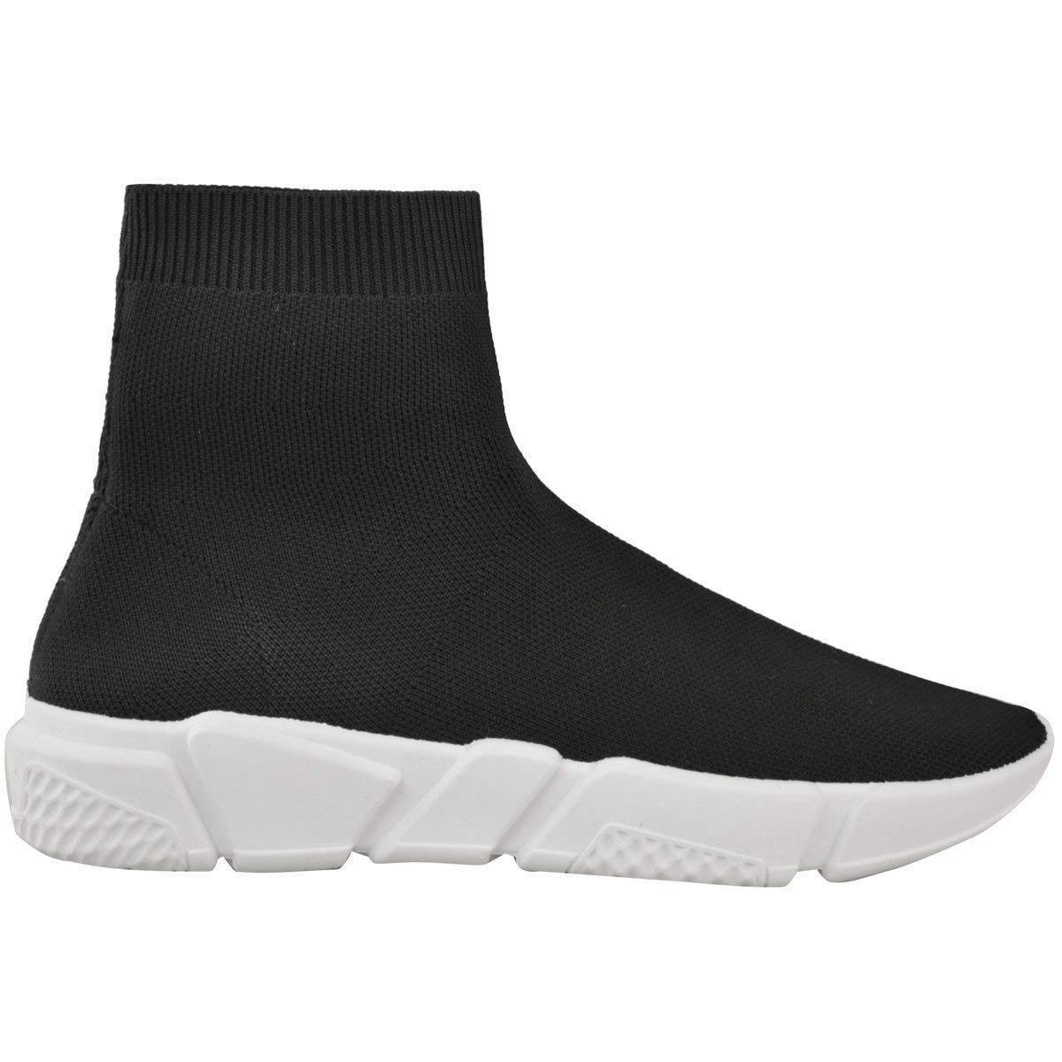 99a6ced3b Fashion Thirsty New Womens Ladies Sneakers Trainers Sock Runners Comfy Speed  Knit Gym Shoes Size  Amazon.co.uk  Shoes   Bags
