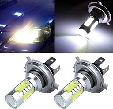 cciyu 2 Pack Xenon White 6000K 60W 12SMD High Power H7 Cree LED Bulb Replacement fit for Fog Light