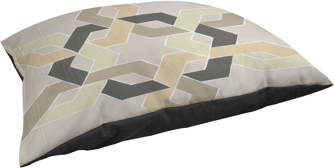 Manual Woodworkers Weavers Indoor Outdoor Large Breed Pet Bed, Non Embellished Deco Stitch, Multi Colored