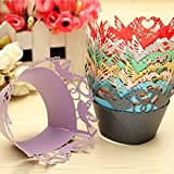 50 PCS Paper Cake Cup Liners Baking Cup Muffin Kitchen Cupcake Cases Wedding Party Valentine Decor Stand Wrapper Toppers