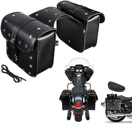 Aitoco Wasserdichte Motorrad Satteltaschen Umhängetasche Seitentasche Werkzeugtasche Cruise Vehicle Tasche Für Harley Sportster Softail Honda Suzuki Yamaha Cruiser One Pairs Küche Haushalt
