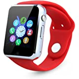 Smart Watch for Andorid iPhone,SUNETLINK Touch Screen Bluetooth Cell Phone Watch with Camera,SIM Card Slot/Pedometer Analy/Sleep Monitoring for Android and IOS Men Women Kids Girls