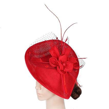bb412d20 Ybriefbag Tea Party Headwear for Girls Women Womens Elegant Fascinator Hat  Cocktail Tea Party Royal Ascot