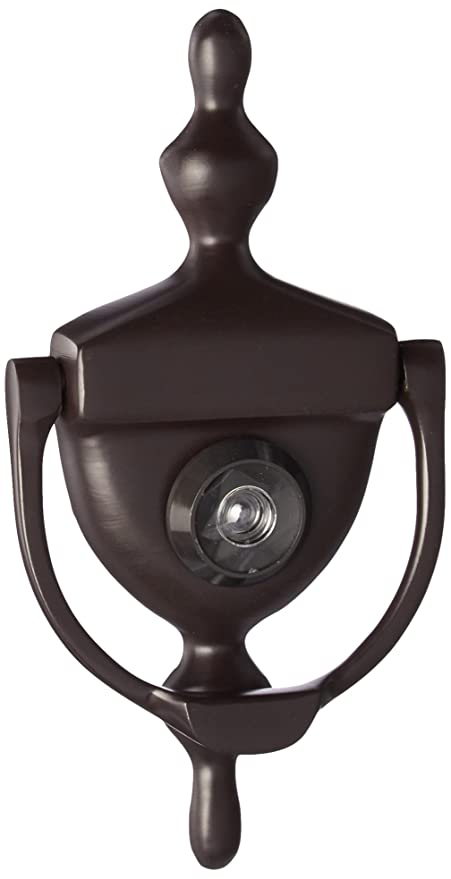 Deltana DKV630U10B Door Knocker With Viewer 1 3/4 Inch Max Door Thickness