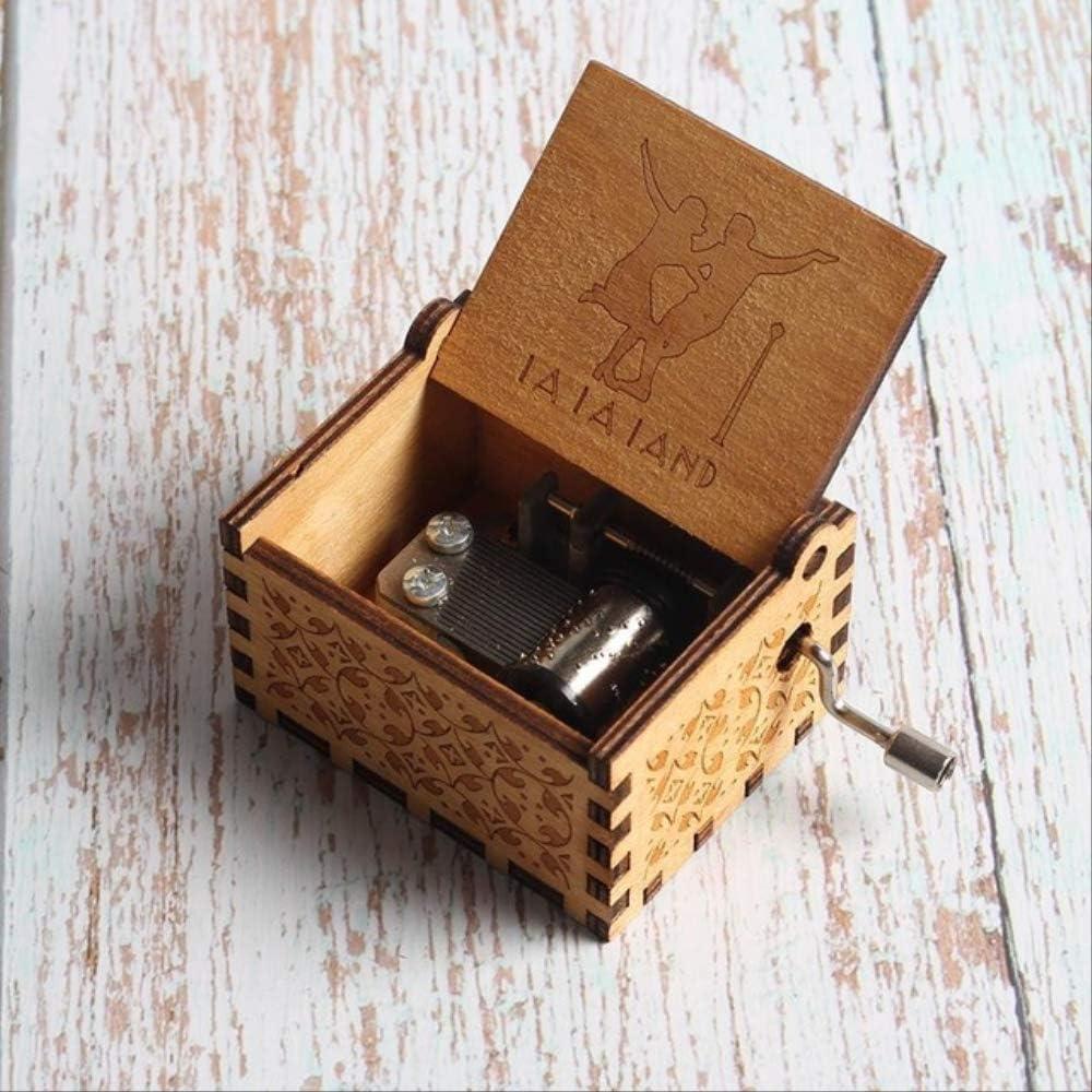 Caja Musica Niña Carved Queen Music Box Star Wars Juego De Tronos Castle In The Sky Caja De Música De Madera con Manivela Land: Amazon.es: Hogar