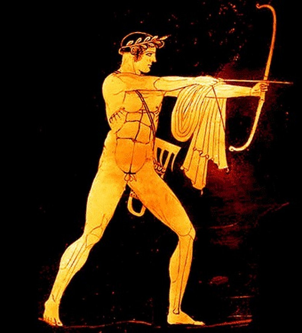 Pendentif Bijou Grec Rond Apollon Argent 925 AP02