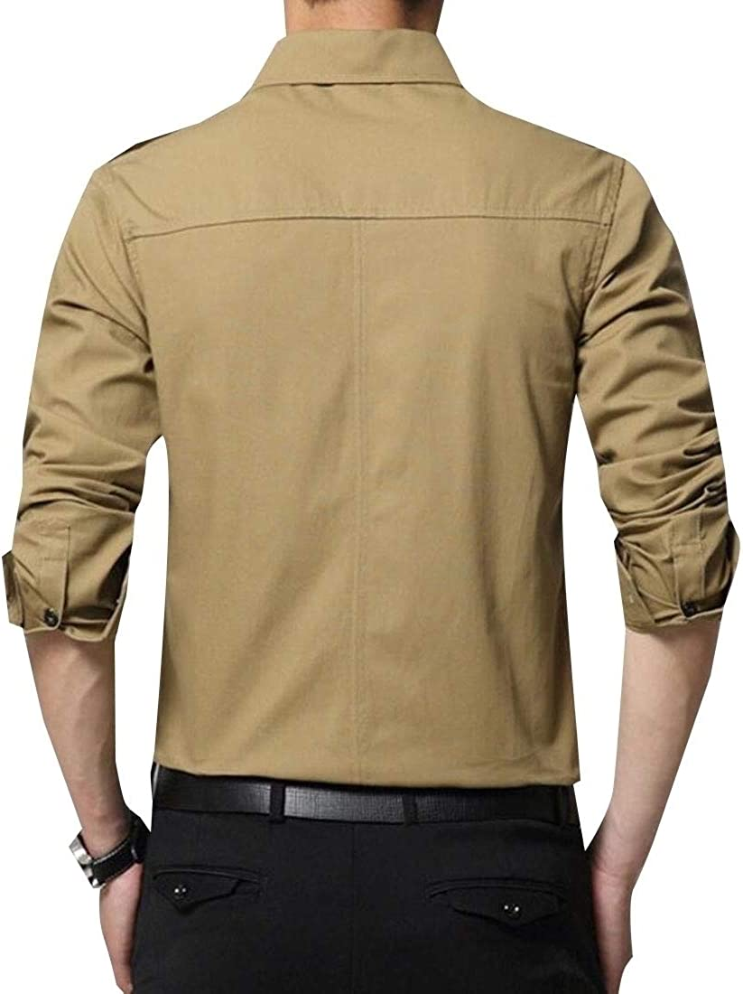 Beloved Mens Fashion Long Sleeve Shirts Button Down Cotton Casual Outdoor Shirts