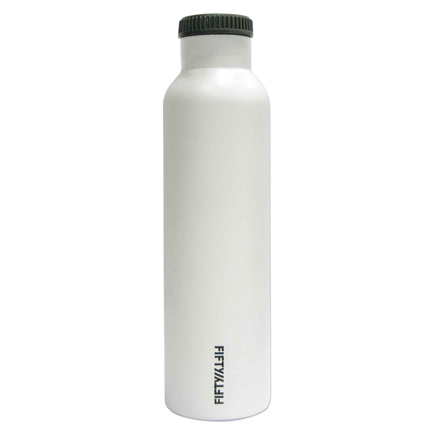 Fifty/Fifty White Vacuum-Insulated Stainless Steel