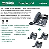 Yealink SIP-T41P Bundle of 4 IP Phone Revolutionarily New Design 3 VoIP Accounts