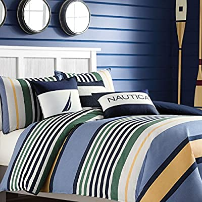Nautica Dover Cotton Comforter Set -  - comforter-sets, bedroom-sheets-comforters, bedroom - 61%2Bdg6KIgaL. SS400  -