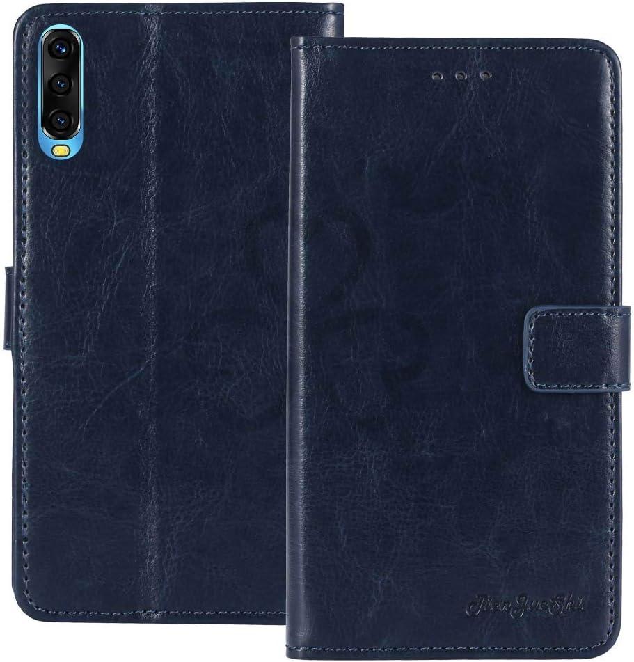 TienJueShi Azul Retro Premium Funci/ón de Soporte Funda Caso Tel/éfono Case para Wiko View 4 Lite 6.52 Inch Carcasa Proteccion Cuero Cover Etui