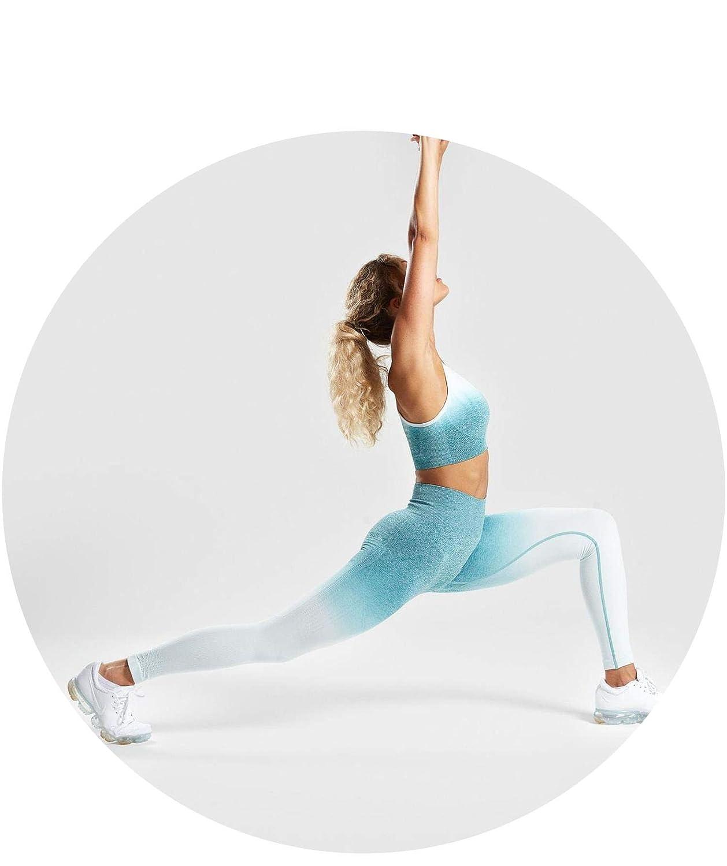 Amazon.com: Women 2 Pcs Yoga Set Gym Clothing Ombre Sports ...
