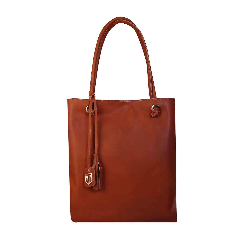 5111eac24 TOTE BAGS IN 100% GENUINE FULL GRAIN LEATHER LADIES HANDBAGS HAND PURSE  SHOULDER BAGS FULLY HANDMADE BY TAN LUZO ARTISANS IN TAN COLOR IDEAS AS  WEDDING GIFT ...