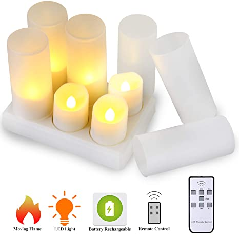 LED Flameless Tea Light Candle Set of 24 Unscented  Remote Controlled Candles UK