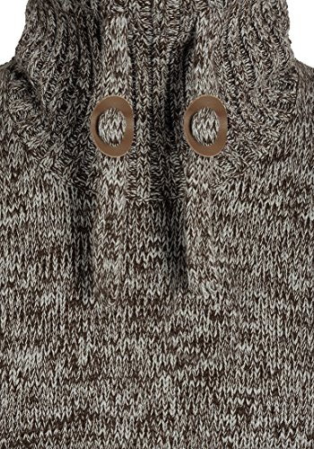 Coffee Pull Pour Maille Col Bean Grosse Homme Coton En Avec solid Pull Tricot over Phirance Droit 5973 100 wgq88xXZ