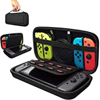 Bestmaple Carry Case Compatible With Nintendo Switch, Protective Hard Portable Travel Carry Case Shell Pouch for Nintendo Switch Console & Accessories Black