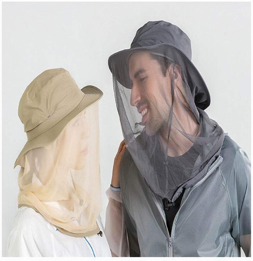 RENNICOCO T/ête de Moustique Filet Jungle Masque de Protection Anti-Moustique Masque Chapeau moucheron avec r/ésille pour Femmes//Hommes